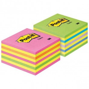POST-IT Haftnotizwürfel 76x76mm 2028NX neonpink/neongrün 2x450 Blatt
