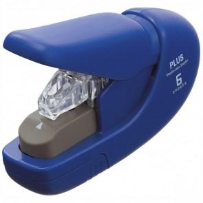 PLUS Klammerloses Heftgerät bis 5 Blatt blau