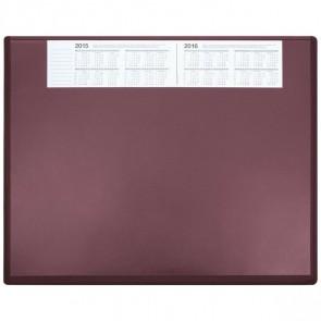 SOENNECKEN Schreibunterlage 3657 Kunststoff mit VSP 63x50cm bordeaux