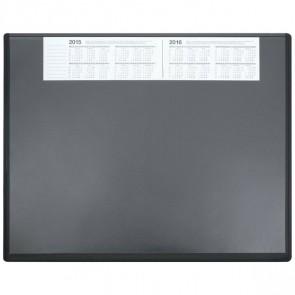 SOENNECKEN Schreibunterlage 3655 Kunststoff mit VSP 63x50cm schwarz