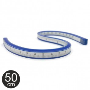 ALCO Kurvenlineal 50cm blau flexibel / biegsam