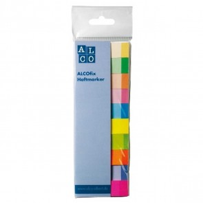 ALCOfix Haftmarker 10x50 Stück 10 verschiedene Farben 15x50mm