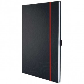 AVERY Notizbuch 7029 Hardcover anthrazit A4 gebunden kariert 80 Blatt