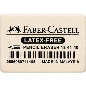 FABER CASTELL Radiergummi LATEX-FREE weiß 7041-40