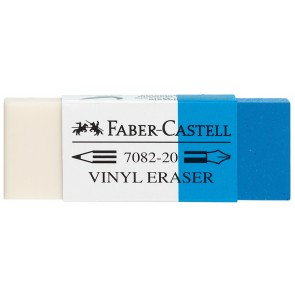 FABER CASTELL Radiergummi KOMBI weiß/blau 7082-20