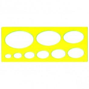 VALORO Ellipsenschablone 15 - 70mm gelb transparent