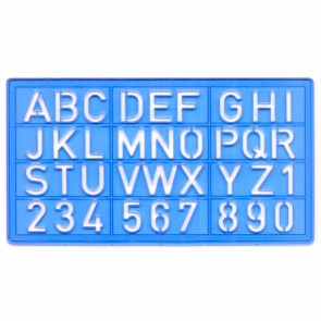 VALORO Schriftschablonen Set 8mm 10mm 20mm Groß-, Kleinbuchstaben, Zahlen mit Bleistift