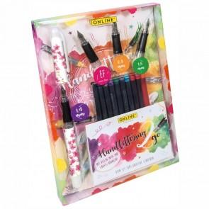 ONLINE BestWriter II Handlettering Set Cherry Bloss EF / 0,8 / 1,4 / 1,8 + 10 Tintenpatronen