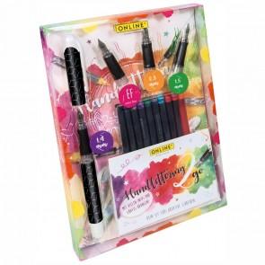 ONLINE BestWriter II Handlettering Set Black Style EF / 0,8 / 1,4 / 1,8 + 10 Tintenpatronen