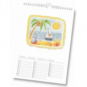 FOLIA Bastelkalender mit Spiralbindung A4 weiße Seiten ohne Jahreszahl