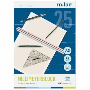 MILAN Millimeterblock A3 25 Blatt