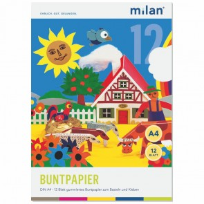 MILAN Glanzpapierheft 12  Blatt