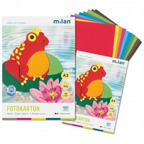MILAN Fotokartonblock A4 300g 10 Blatt