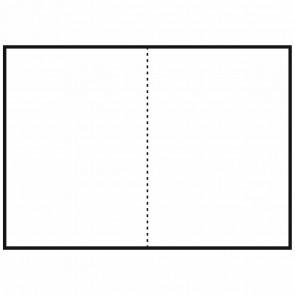 FOLIA Briefkarten DIN A6 hoch doppelt 190g weiß 25 Stück