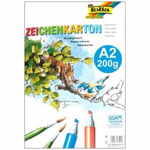 FOLIA Zeichenkarton DIN A2 200g 10 Stück hochweiß