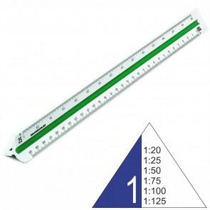 RUMOLD Dreikantmaßstab 150/1/30 Architekt 1 30cm Kunststoff weiß 1:20 - 1:125