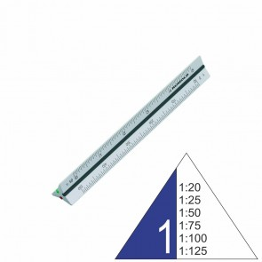 RUMOLD Dreikantmaßstab 195/1/15 Architekt 1 15cm Aluminium 1:20 - 1:125