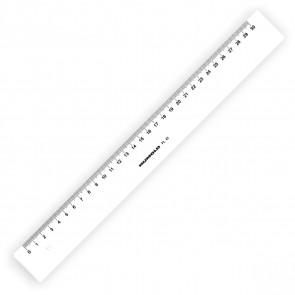 RUMOLD Kunststoff-Lineal 30cm weiß FL43