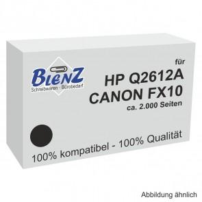BLENZ Toner für HP Q2612A / Canon FX-10 schwarz fabrikneu (kein Rebuilt)