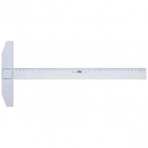 M+R Reißschiene 1775 75cm Kunststoff transparent mm-Teilung