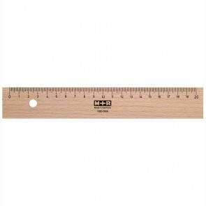M+R Holzlineal 20cm Buche mit Stahleinlage