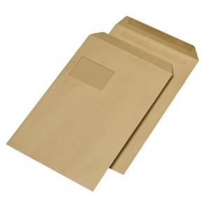 MAILMEDIA Versandtasche C4 mit Fenster selbstklebend braun 250 Stück 90g