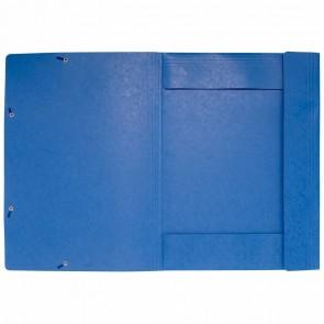 EXACOMPTA Sammelmappe A3 mit Gummizug blau extra stark 600g