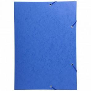 EXACOMPTA Sammelmappe A2 mit Gummizug blau extra stark 600g