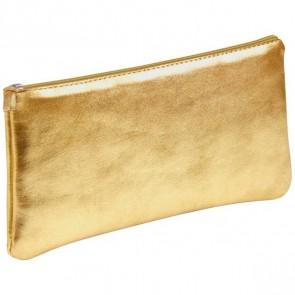 CLAIREFONTAINE Schlamperrolle flach 22 x 11cm echt Leder gold metallic