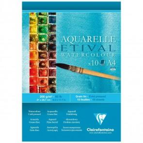CLAIRFONTAINE Aquarellblock ETIVAL A4 200g matt 10 Blatt