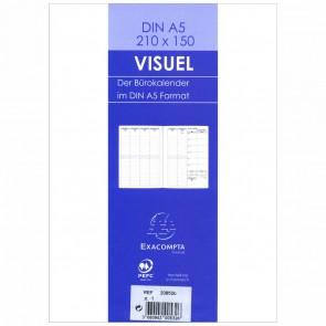 QUO VADIS Buchkalender Einlage 20852B VISUEL A5 15x21cm 2021