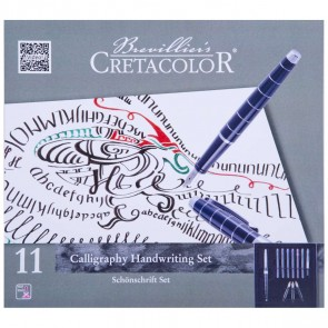 CRETACOLOR Füllhalter Kalligraphie Set 11-teilig 1,1 / 1,5 / 1,9 mm + Zubehör