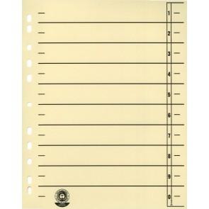 WEKRE Trennblätter chamois 190g 100 Stück Packung
