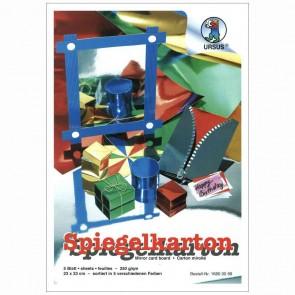 URSUS Spiegelkarton 23x33cm 5 Blatt extra stark (silber gold rot grün blau)