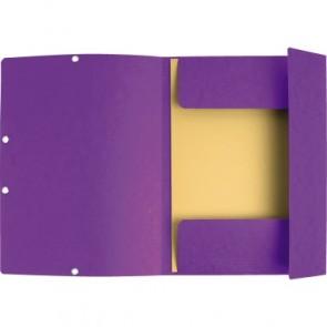 EXACOMPTA Eckspannermappe A4 violett Manilakarton 400g