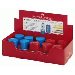 FABER CASTELL Dosenspitzer Grip 2001 rot  / blau 3-Loch