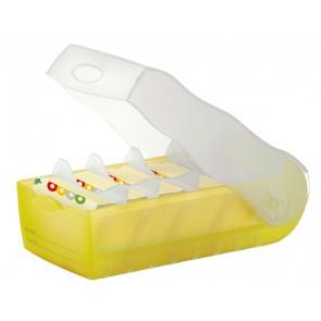 HAN Karteibox Croco A8 998-653 gelb-transluzent