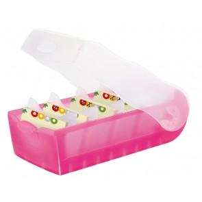 HAN Karteibox Croco A8 998-663 pink-transluszent