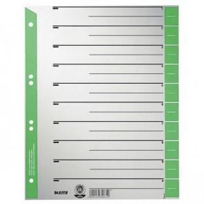 LEITZ Trennblätter 1652 A4 230g Tab grün