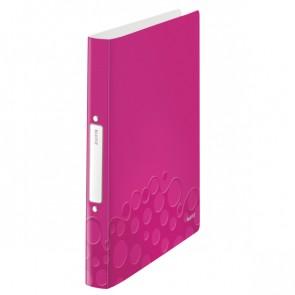 LEITZ Ringbuch WOW 4257 A4 PP 25mm 2-Ring pink metallic