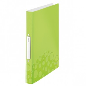 LEITZ Ringbuch WOW 4257 A4 PP 25mm 2-Ring grün metallic