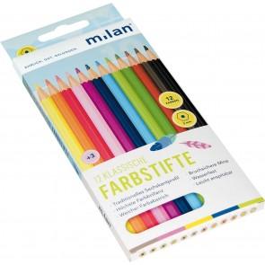 MILAN Farbstifte 394 hexagonal 12 Stück im Pappetui
